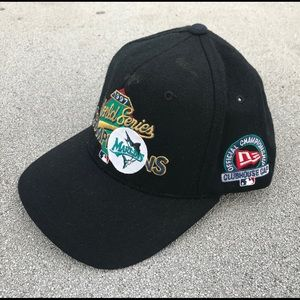 New Era Accessories - NEW ERA VINTAGE FLORIDA MARLINS SNAPBACK HAT CAP ab3dfb0291fc